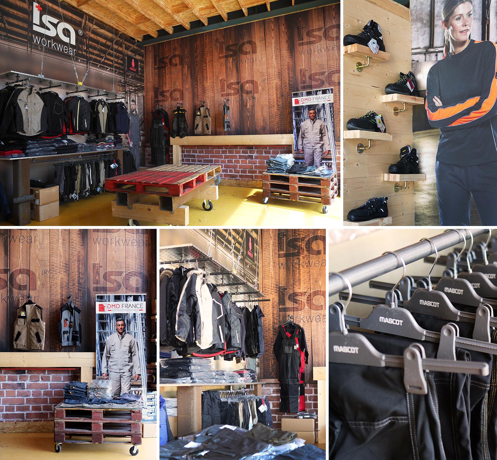 ISA WORKWEAR magasin de vêtements professionnels vente direct